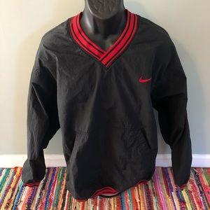 90s Nike Windbreaker Jacked Swoosh Logo Black XL